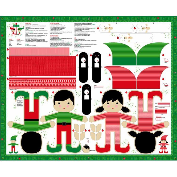 The North Pole - Doll Panel - Multi