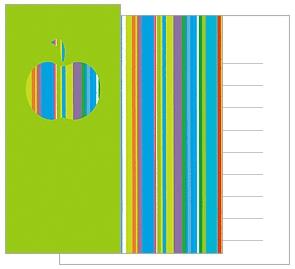Mini Notecards - Green Apple