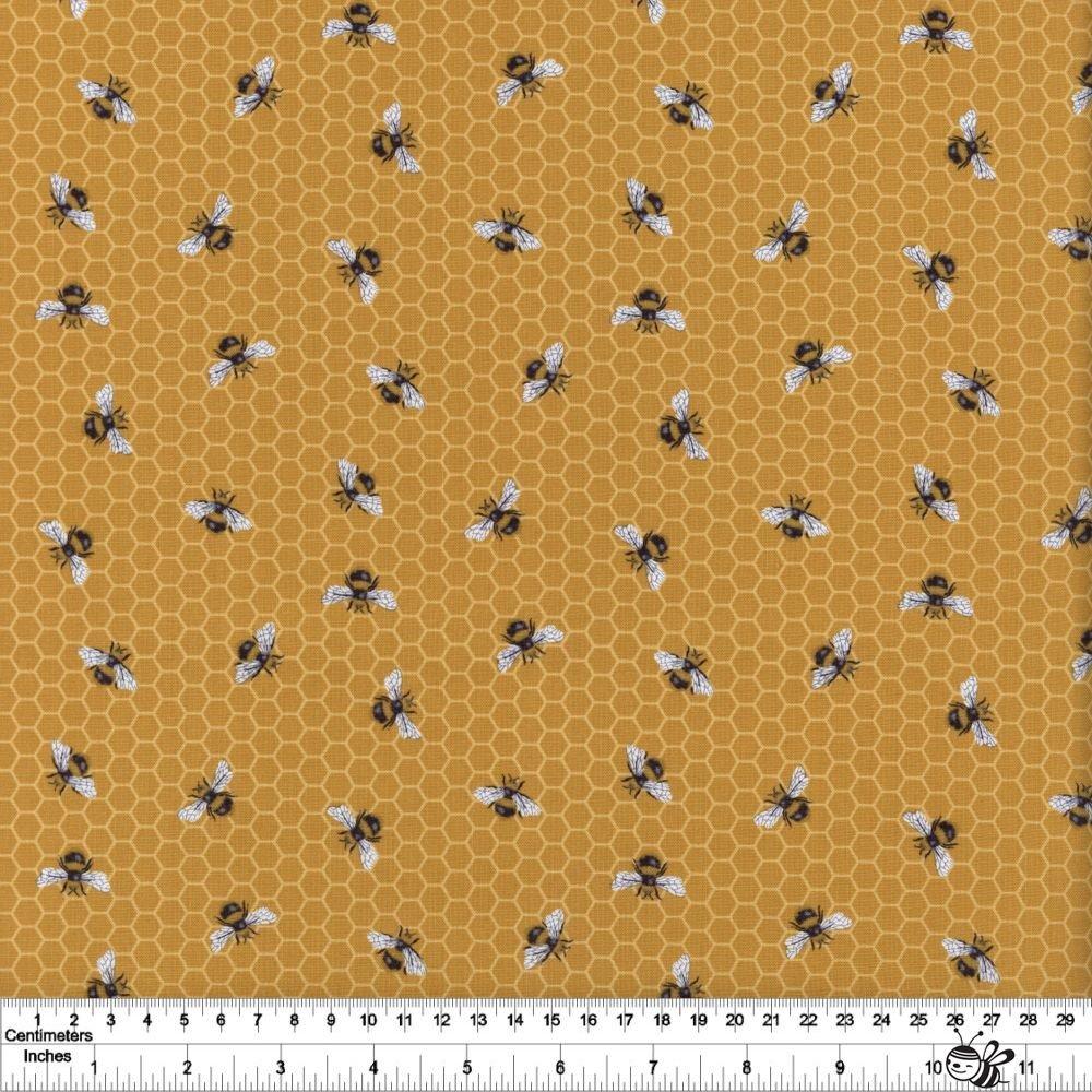 Bee Kind - Honeycomb Bee - Yellow