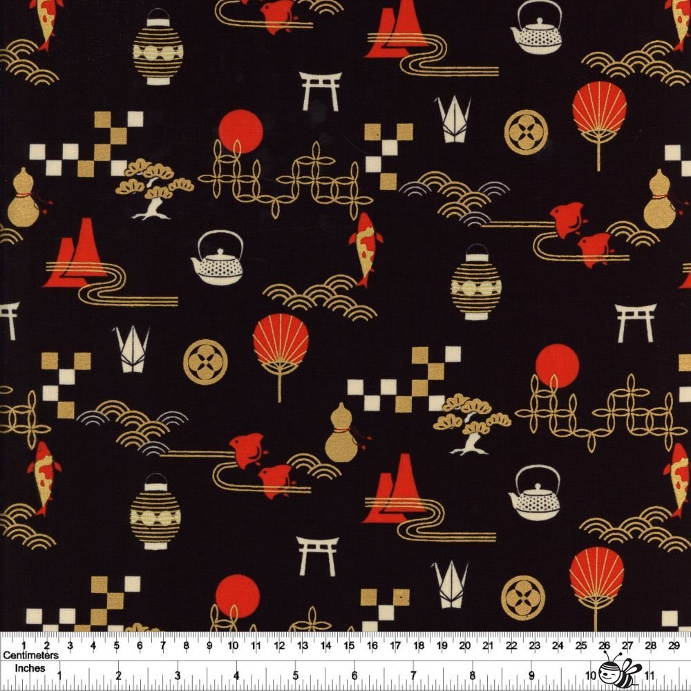 Zen Garden - Black & Red