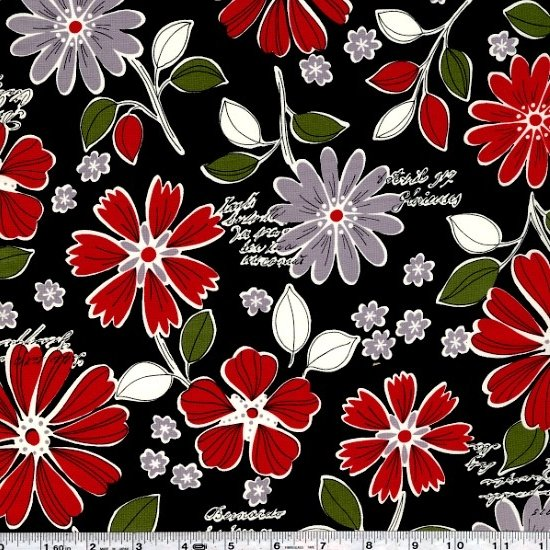 Mrs. March's Retro Pop - Wildflower Bouquet - Black