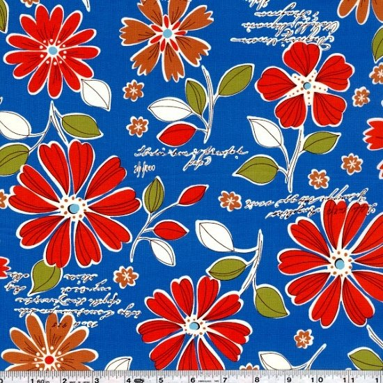 Mrs. March's Retro Pop - Wildflower Bouquet - Blue