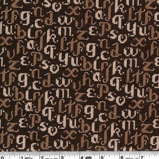 La Petite Mercerie - Cross Stitch Alphabet - Taupe