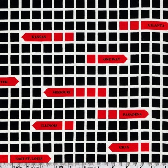 First of Infinity - City Grid - Black & Red