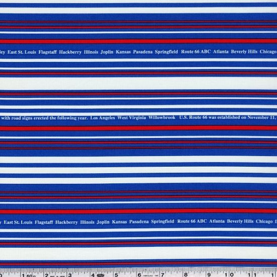First of Infinity - City Stripe - Blue & Red