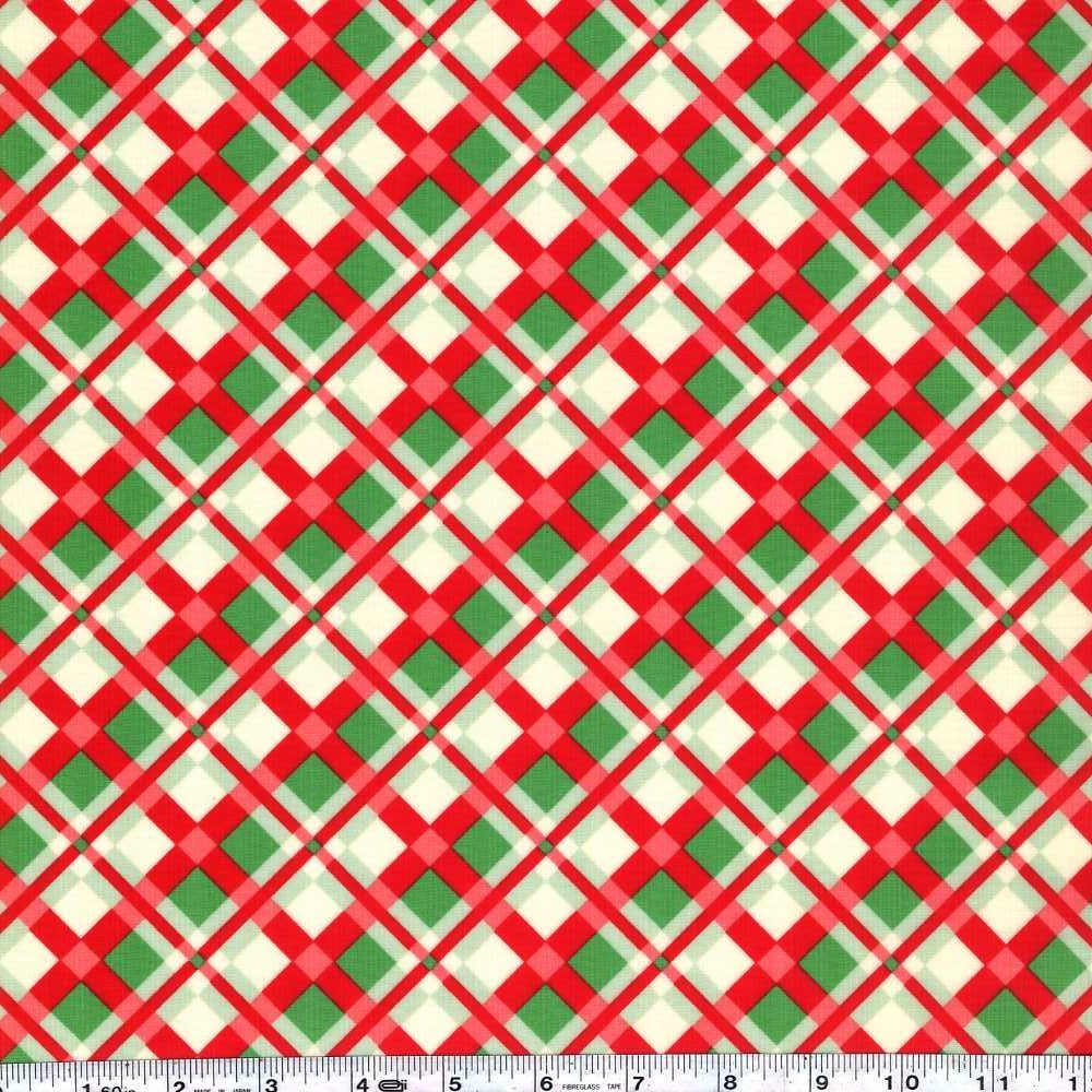 Swell Christmas - Holiday Plaid Laminate - Green