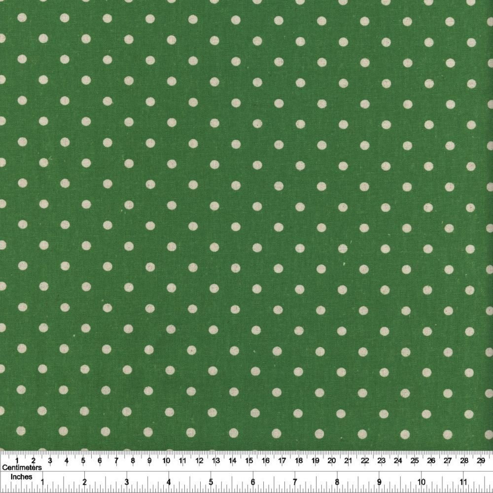 Linen Mochi Dot - Grass Green