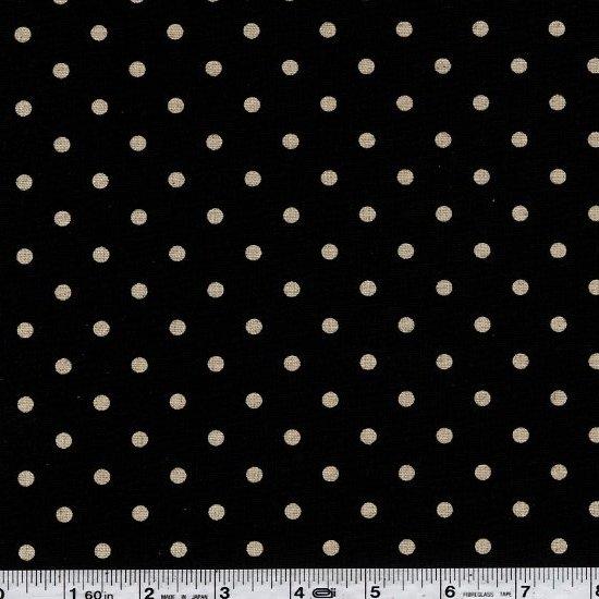 Linen Mochi Dot - Black