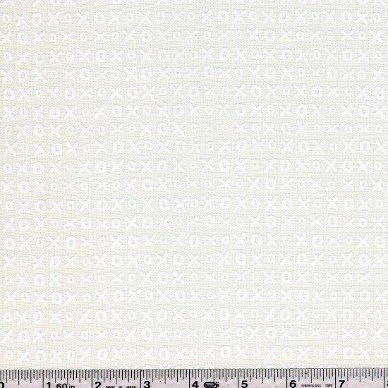 Whispers Muslin Mates - Hugs & Kisses - White on White