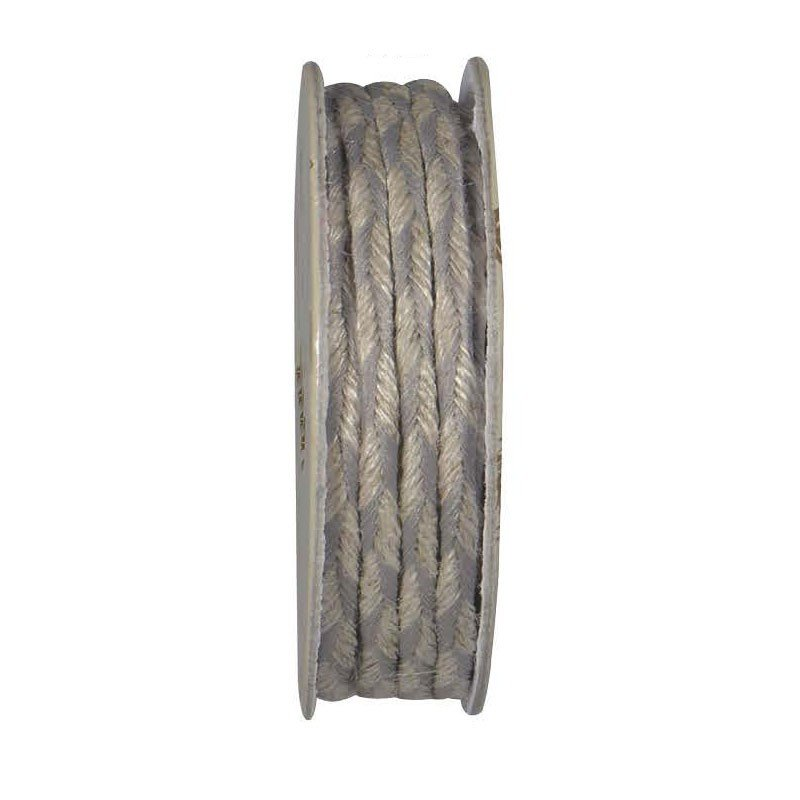 Lin Naturel Trim - Twisted Cord - Grey & Natural