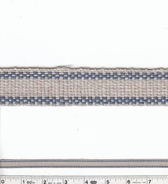 Border Stripe Trim - Blue