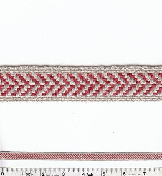 Herringbone Trim - Red