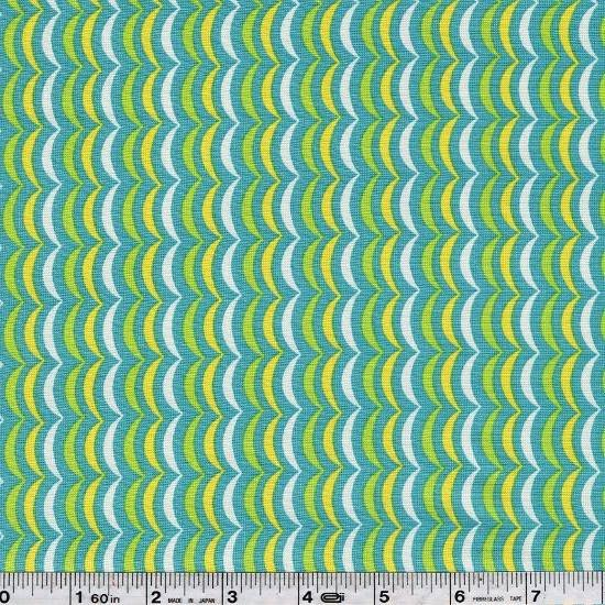 Apple Jack - Scallop Stripe - Aqua Blue