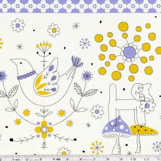 Minakoko - Scandi Stripe - Gold & Lavender