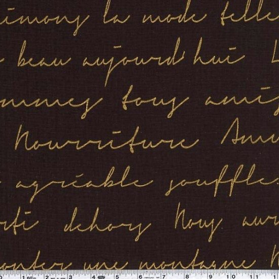 Lecre - French Text - Gold on Chocolate Brown