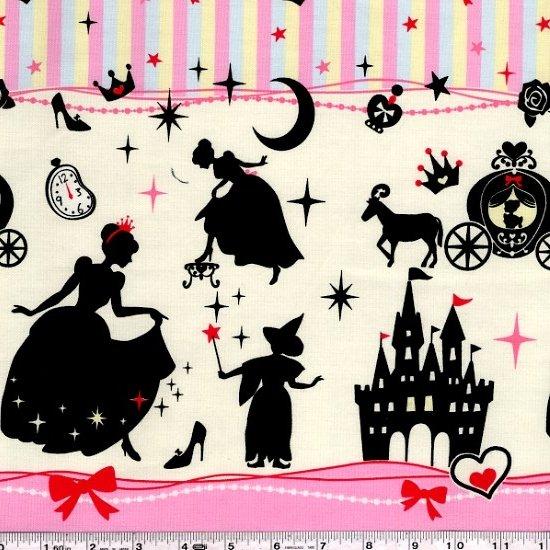 Girl's Story - Cinderella Border - Pink
