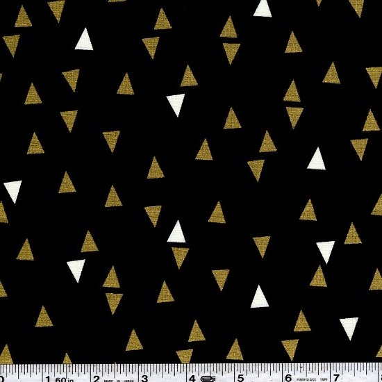 Gold & Bold - Tossed Triangles - Black