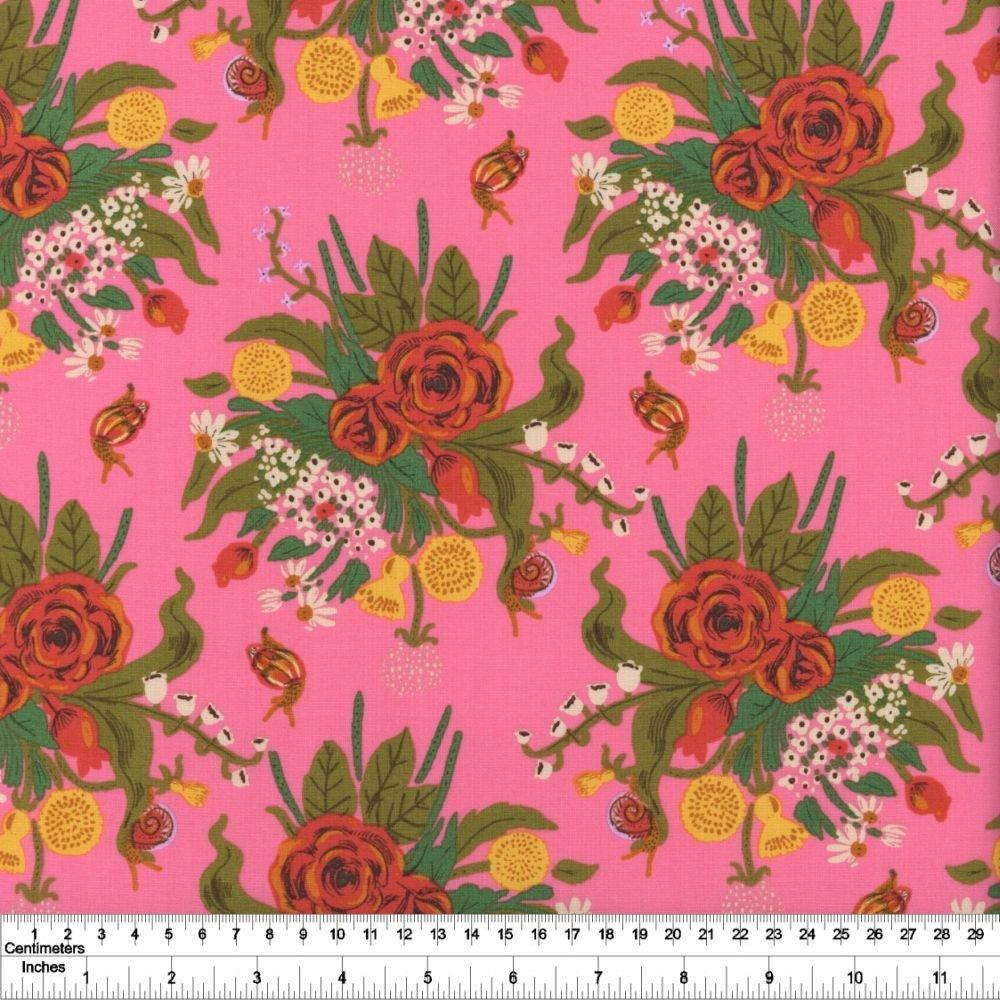 Heather Ross' 20th Anniversary - Wild Flowers - Pink