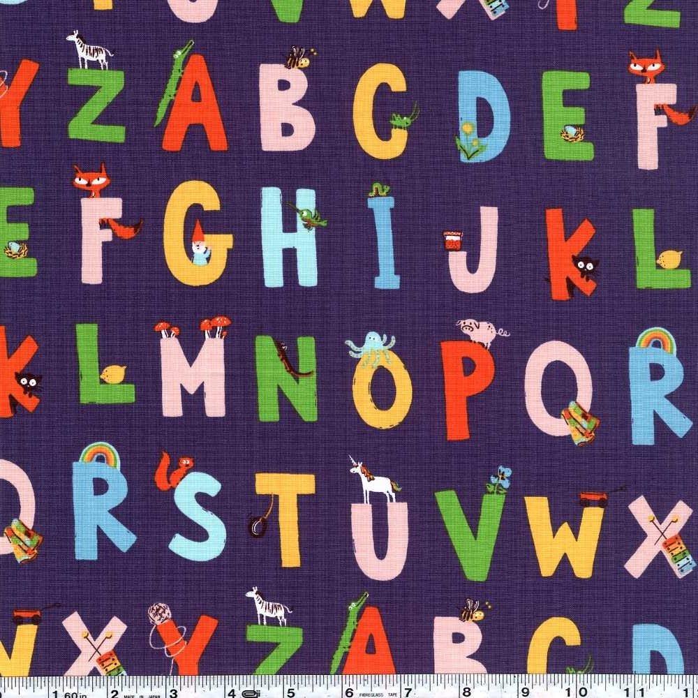 Kinder - Alphabet - Indigo Purple