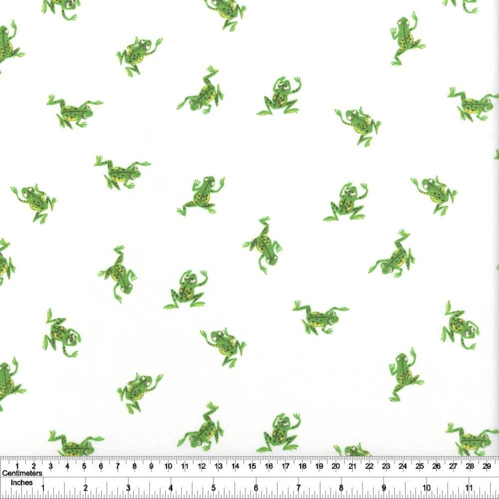 Heather Ross' 20th Anniversary - Frogs - White