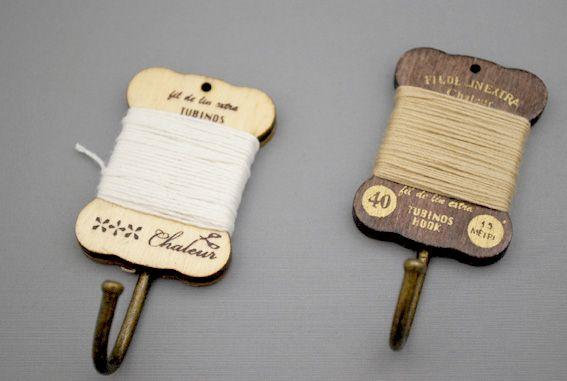 Spool Magnet Hook - Ivory