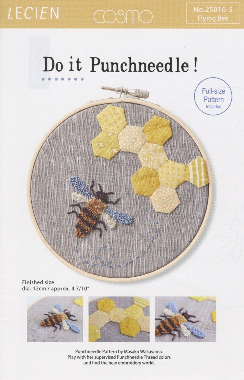 Masako Wakayama - Punchneedle - Flying Bee
