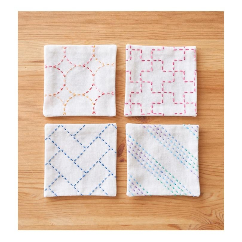 Cosmo Hidamari Pre-Printed Cloth - Coasters - White