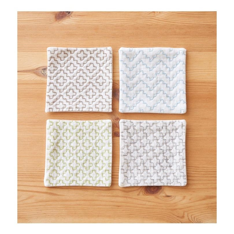 Cosmo Hidamari Pre-Printed Cloth - Coasters - White #2