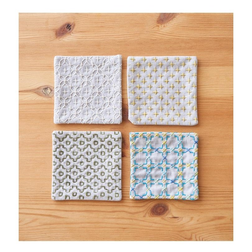 Cosmo Hidamari Pre-Printed Cloth - Coasters - Grey