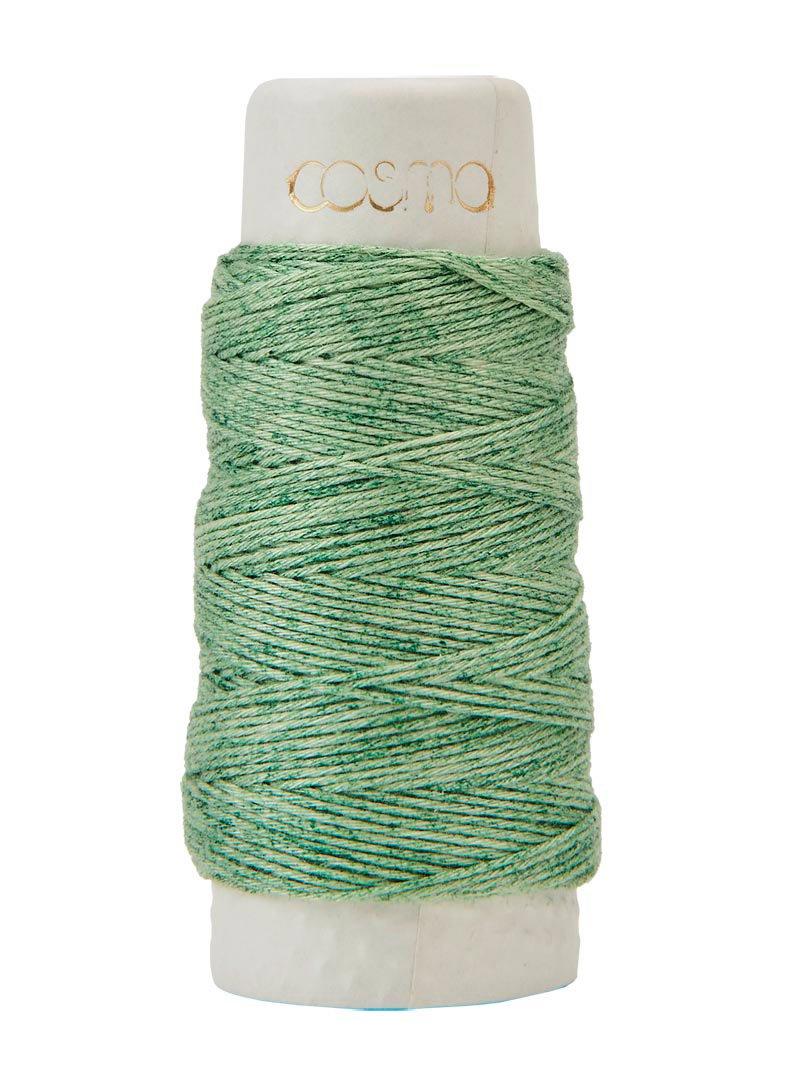 Cosmo Hidamari Variegated Sashiko Thread - Color #202 Mojito Green