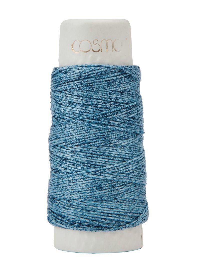 Cosmo Hidamari Variegated Sashiko Thread - Color #203 Denim