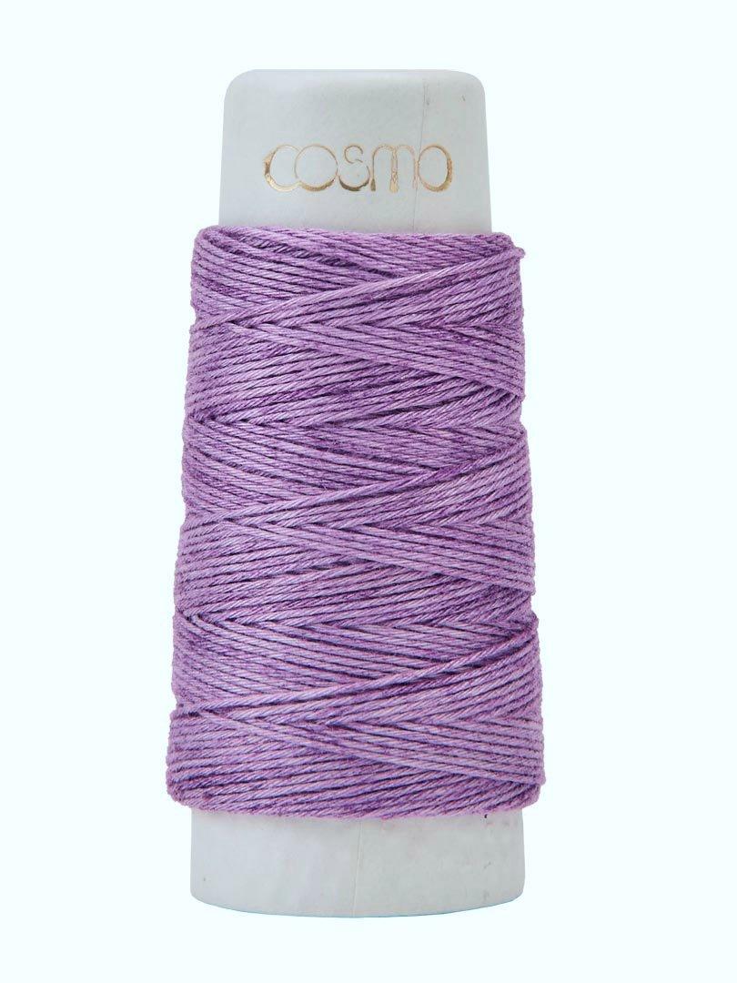 Cosmo Hidamari Variegated Sashiko Thread - Color #204 Violet Field