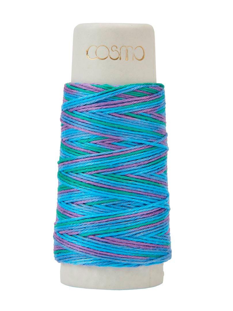 Cosmo Hidamari Variegated Sashiko Thread - Color #305 Tie Dye