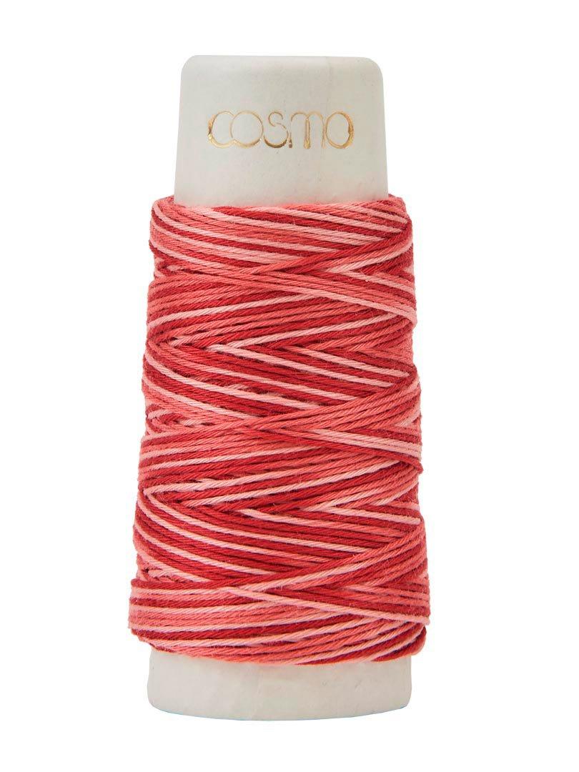 Cosmo Hidamari Variegated Sashiko Thread - Color #402 Rose Banquet
