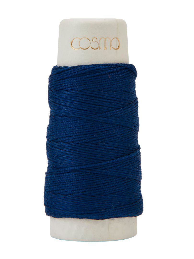 Cosmo Hidamari Sashiko Thread - Color #5 Indigo Blue