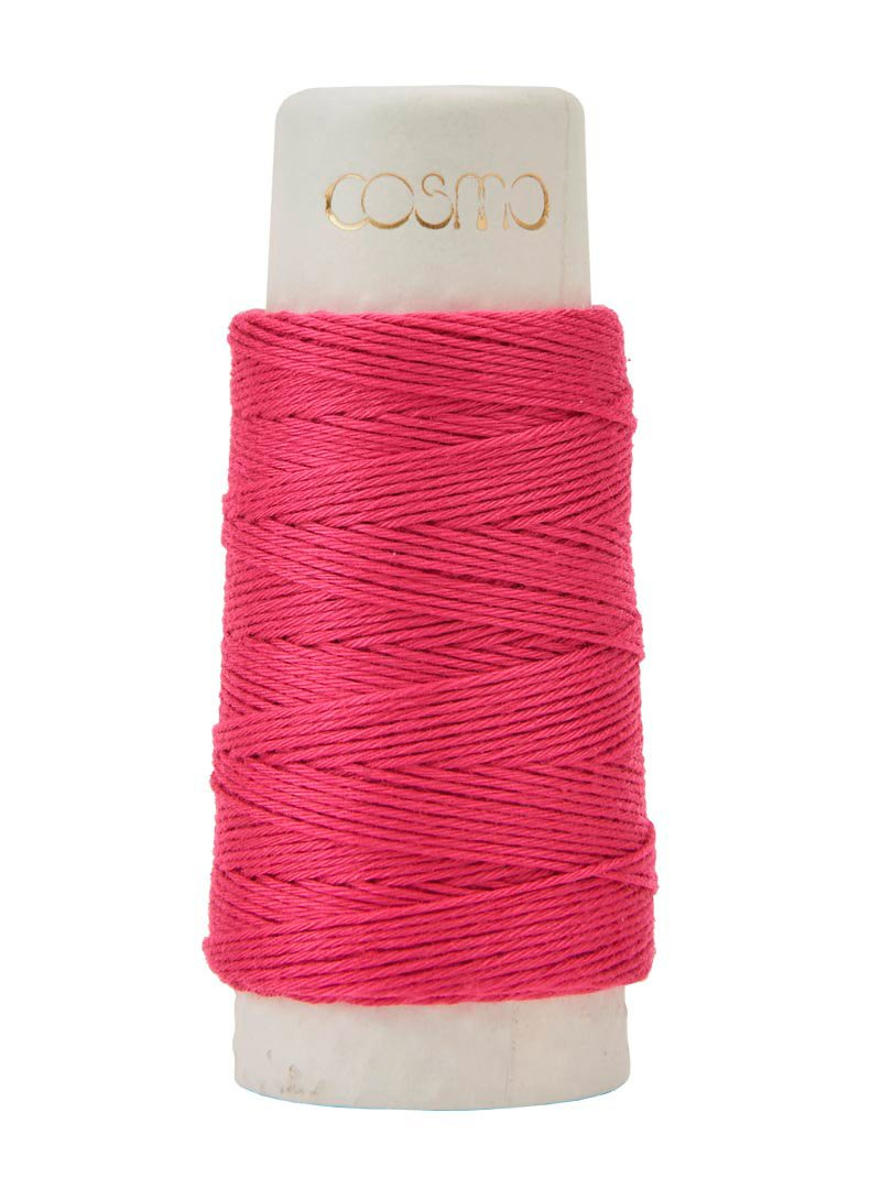 Cosmo Hidamari Sashiko Thread - Color #8 Raspberry Sorbet