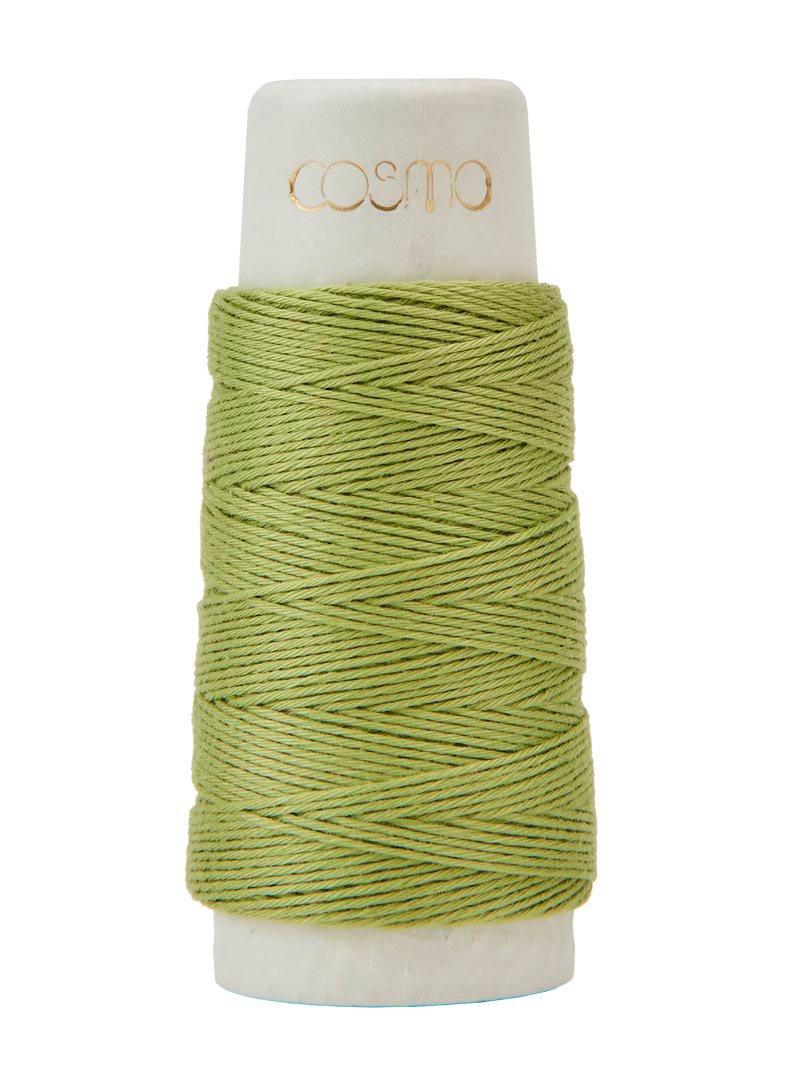 Cosmo Hidamari Sashiko Thread - Color #15 Green Tea