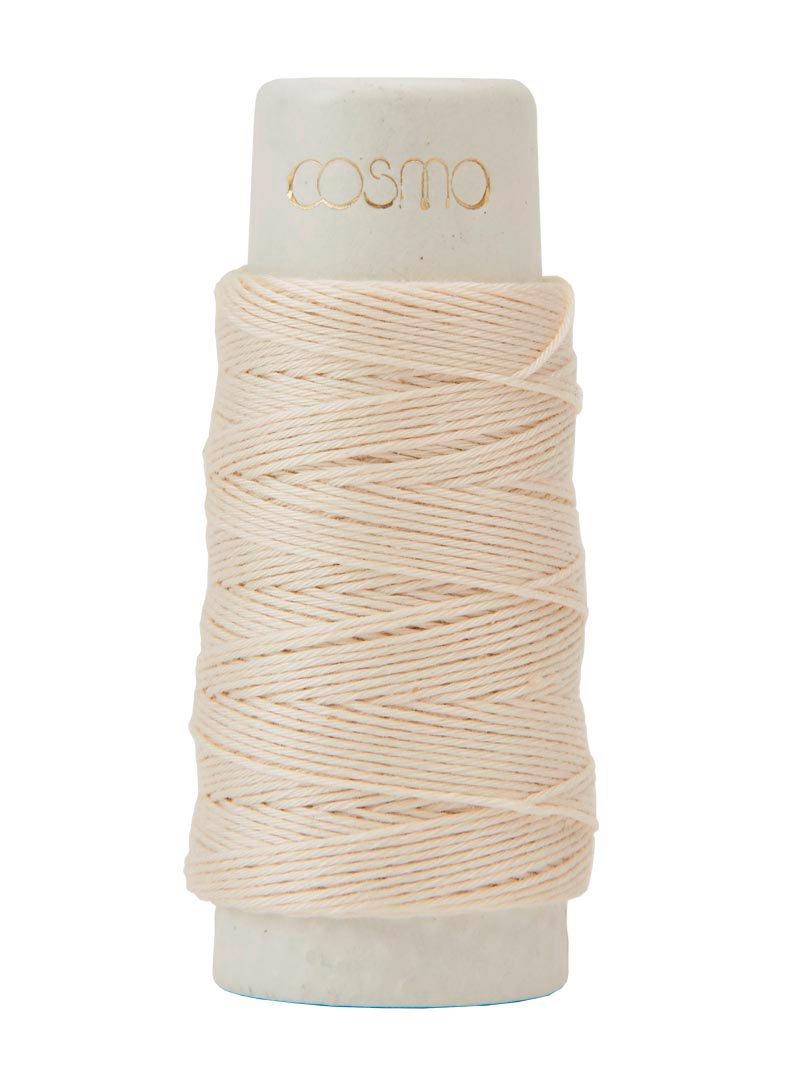 Cosmo Hidamari Sashiko Thread - Color #20 Pearl White