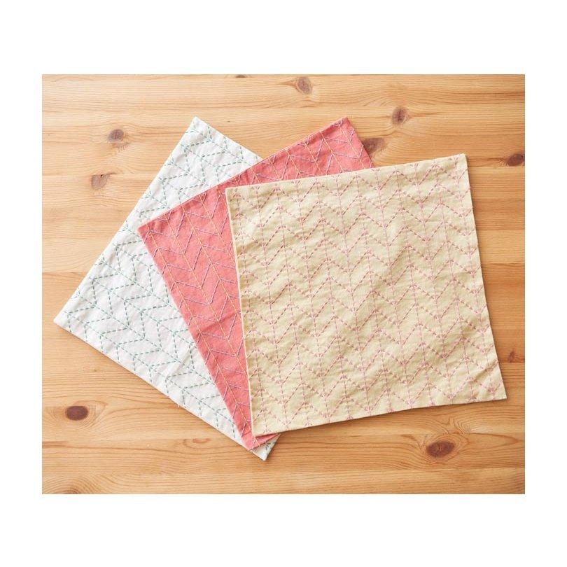 Cosmo Hidamari Pre-Printed Cotton & Linen Cloth - Sugiaya - Beige