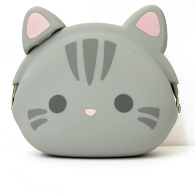 Mimi Pochi Coin Purse - Grey Tabby Cat