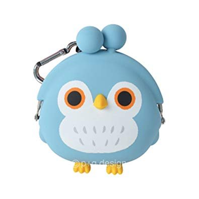 Mimi Pochi Coin Purse - 3D Owl - Blue