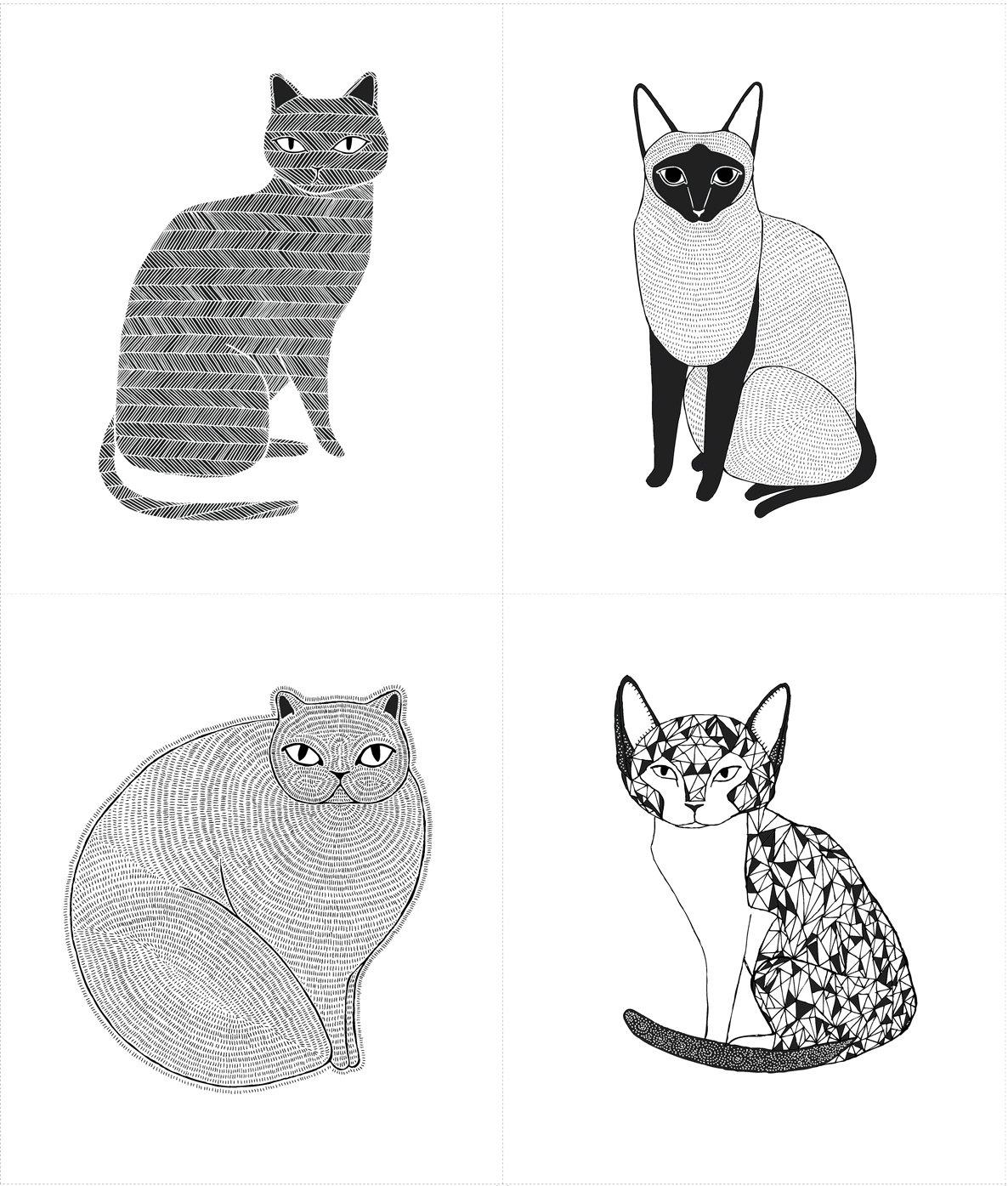 Catnip - Cat Panel - White