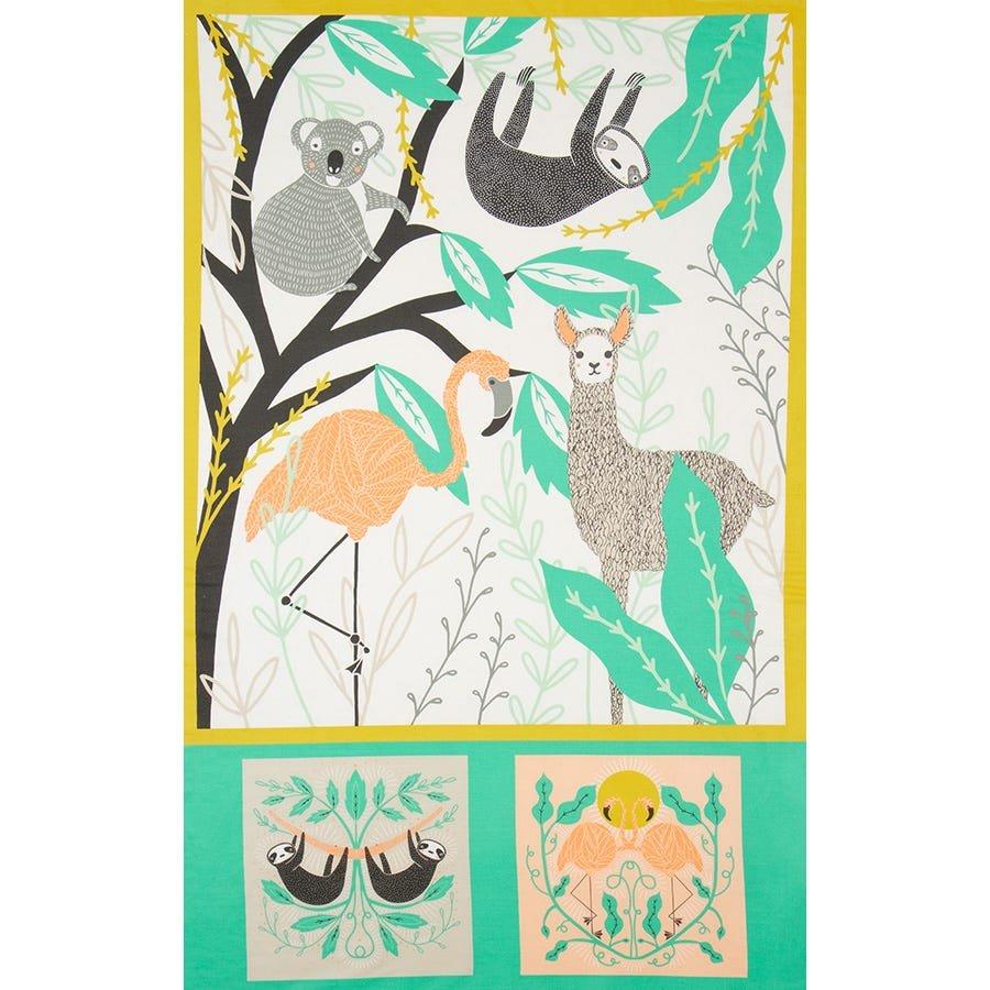 Zoology - Baby Blanket Panel