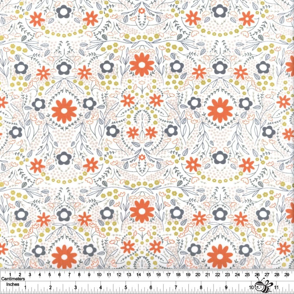 Dwell in Possibility - Full Bloom - Ivory Metallic