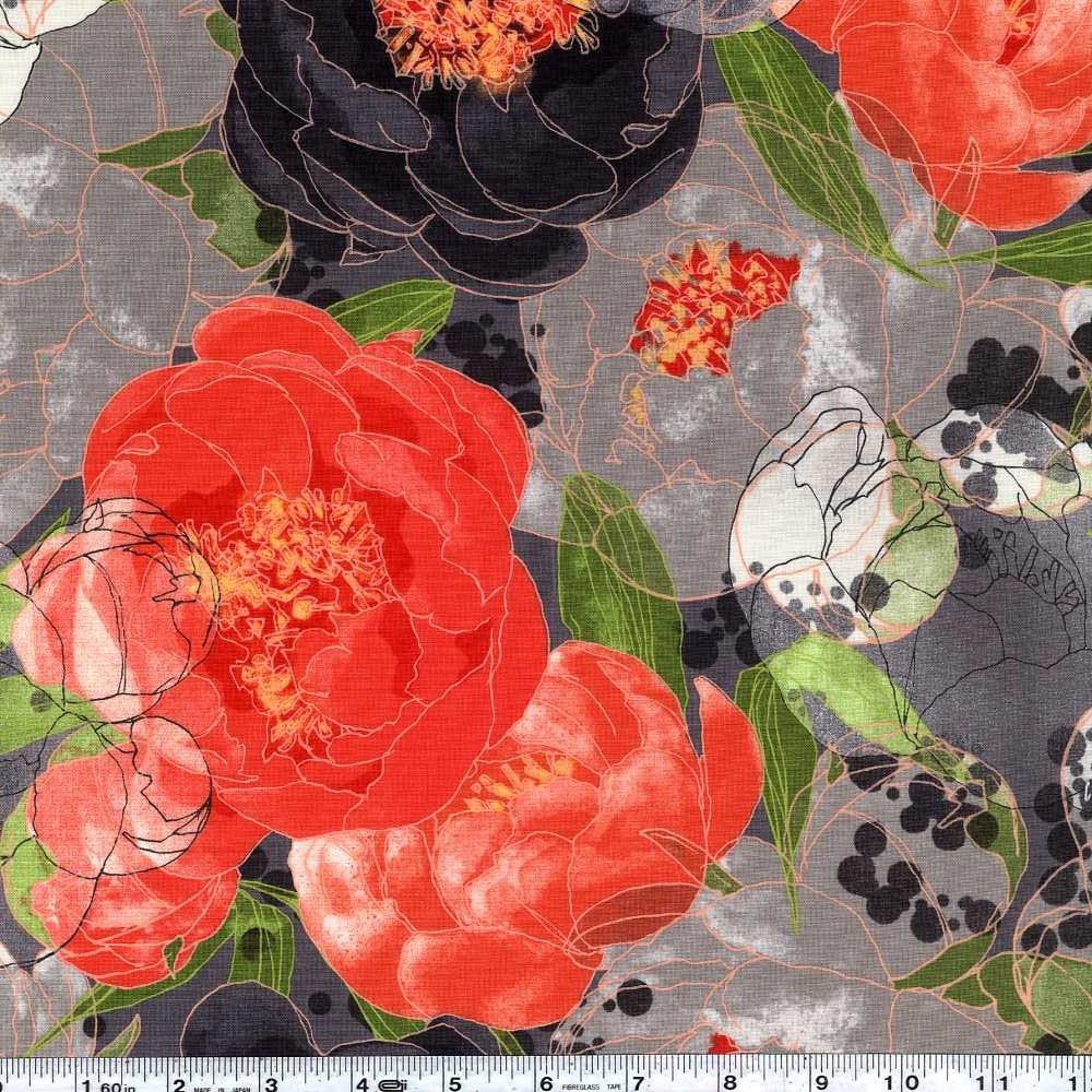 Blushing Peonies - Giant Bloom - Charcoal