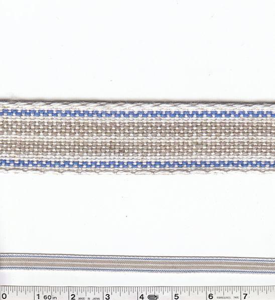 Zakka Stripe Trim - Blue