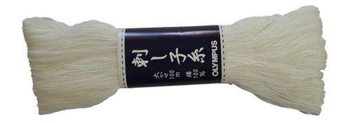 Sashiko Thread - White (#1) - 100 Meter Skein