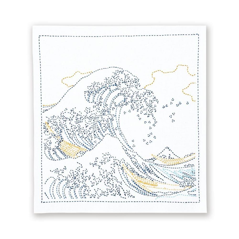 Hana-Fukin Sashiko Sampler - The Great Wave Off Kanagawa