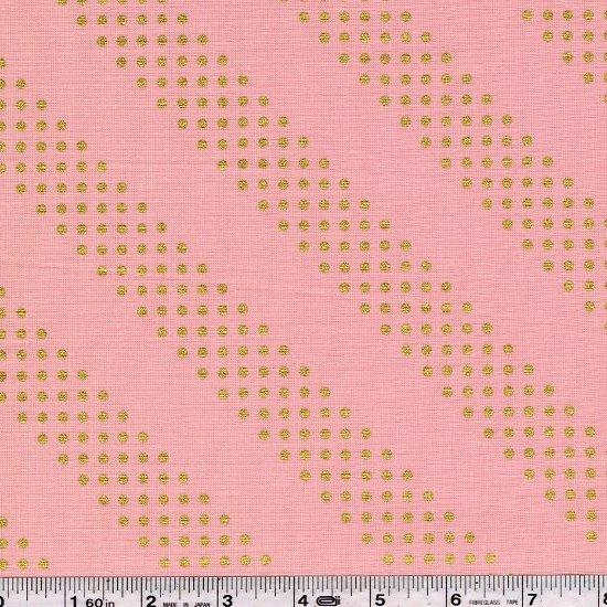 Cotton + Steel Basics - Dottie - Gold on Pink