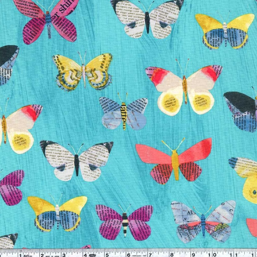 Wonder - Butterflies - Aqua